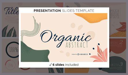 Organische abstrakte Präsentationsvorlage