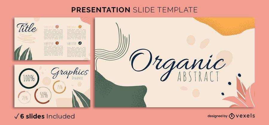 Plantilla de presentación abstracta orgánica