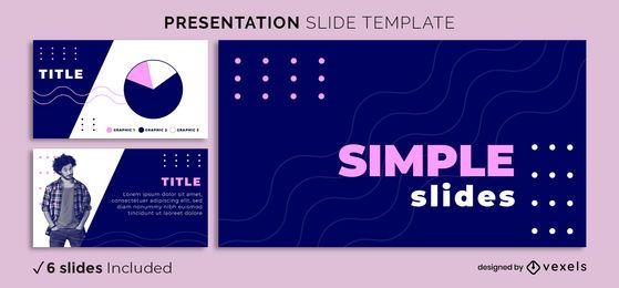 Plantilla de presentación en negrita simple