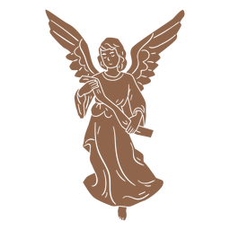 Silhueta de personagem de natividade de anjo