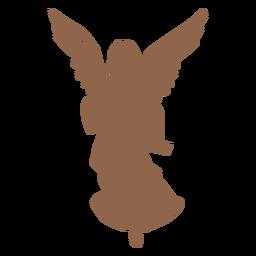 Silueta de personaje de natividad de ángel