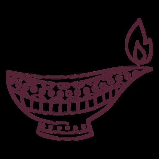 Arabian oil lamp line