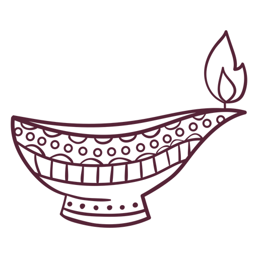 Línea de lámparas de aceite árabe