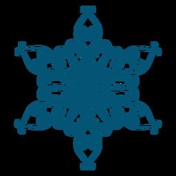 Elemento de copo de nieve de arte