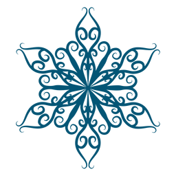 Elemento de floco de neve de arte