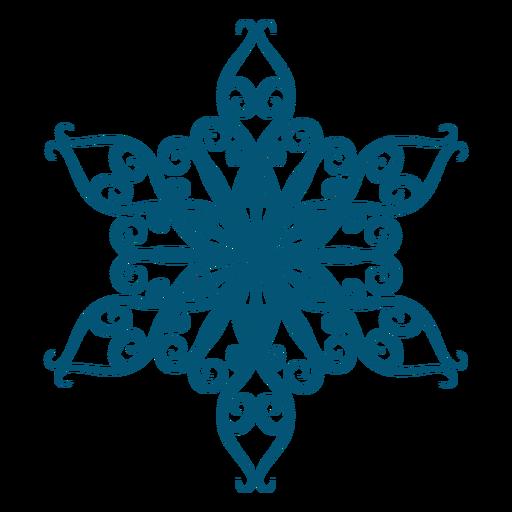 Art snowflake element