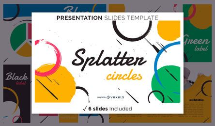 Abstract Splatters Presentation Template