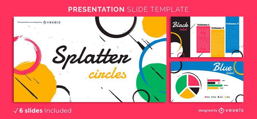 Abstract Splatters Presentation Template
