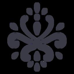Artistic floral ornament silhouette