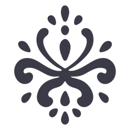 Silhueta de ornamento floral artístico