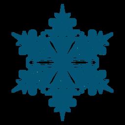 Elemento de copo de nieve de remolino artístico