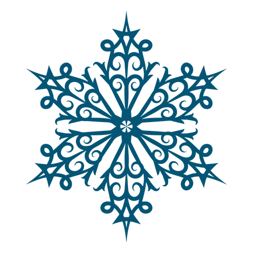 Artistic swirl snowflake element