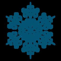 Icono de copo de nieve de remolino artístico