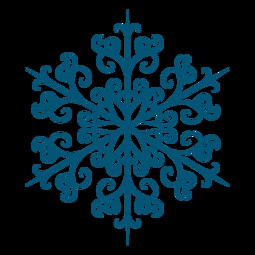 Artistic swirl snowflake icon