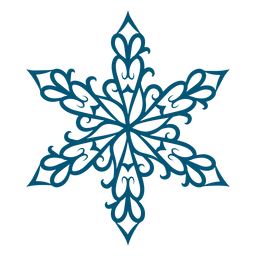 Artistic swirls snowflake element