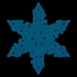Elemento de copo de nieve de remolinos artísticos.