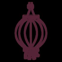 Asian lantern element line