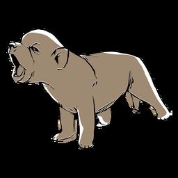 Dibujo de lobo bebé