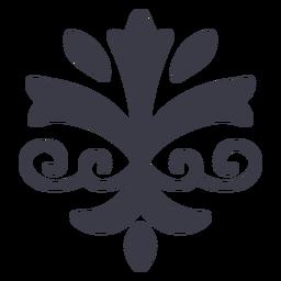 Bela silhueta de ornamento floral