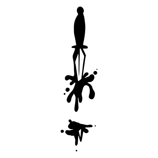 Bloody knife silhouette