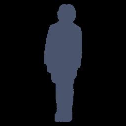 Junge stehende Silhouette
