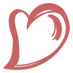 Elemento del corazón del cepillo