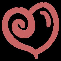 Dibujo de corazón cepillado