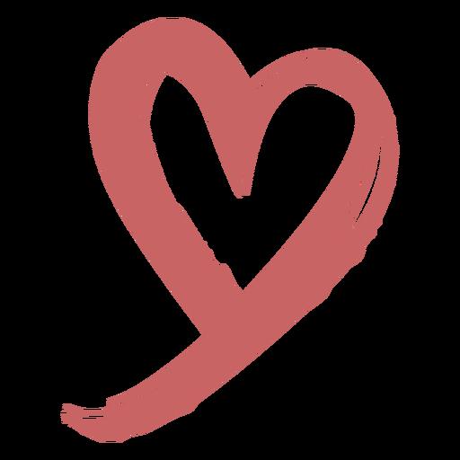 Elemento de corazón cepillado Transparent PNG