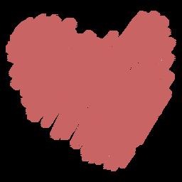 Elemento de coração de rabisco escovado