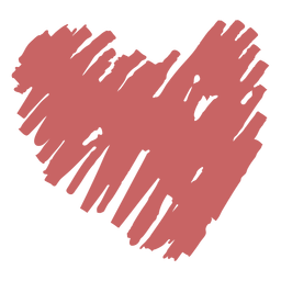 Elemento de corazón de garabato cepillado