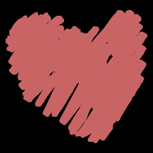 Elemento de corazón de garabato cepillado Transparent PNG