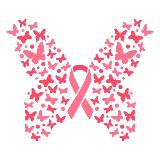 Butterflies breast cancer ribbon
