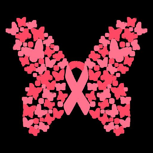 Fita de câncer de mama borboletas