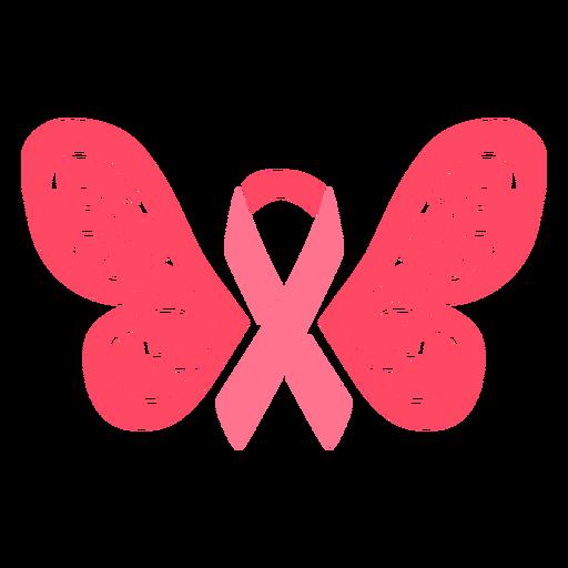 Fita de asas de borboleta para câncer de mama Transparent PNG
