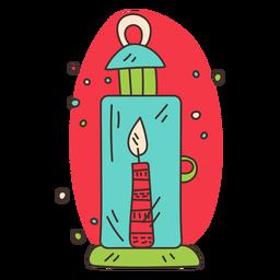 Candle lantern cartoon
