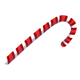 Candy cane treat element