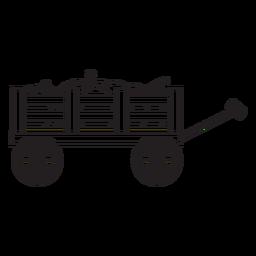 Cart with pumpkins vinyl