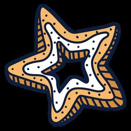 Desenho de biscoito estrela de Natal
