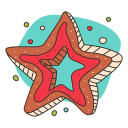 Christmas star cookie colored
