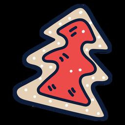 Christmas tree cookie cartoon