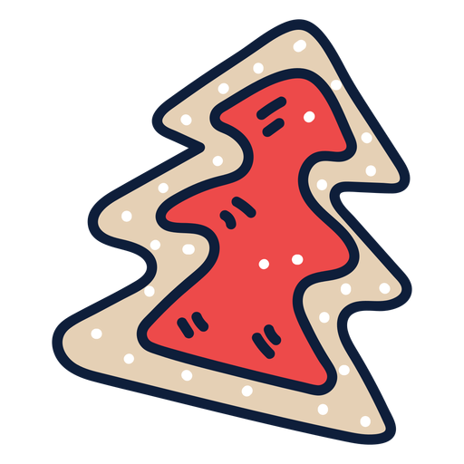 Christmas tree cookie cartoon Transparent PNG