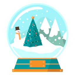 Christmas tree scene snow globe