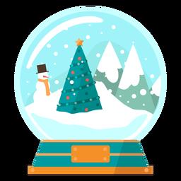 Globo de neve de cena de árvore de Natal