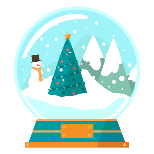 Christmas tree scene snow globe Transparent PNG