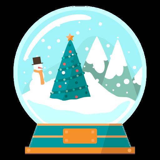 Globo de neve de cena de árvore de Natal Transparent PNG