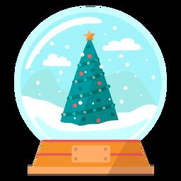 Árbol de navidad globo de nieve