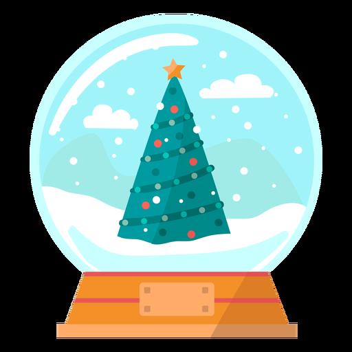 Bola de nieve de árbol de Navidad