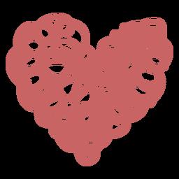 Elemento de corazón de garabato de círculo
