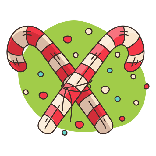 Crossed Candy Canes Cartoon Transparent Png Svg Vector File