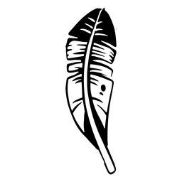 Dark bird feather silhouette